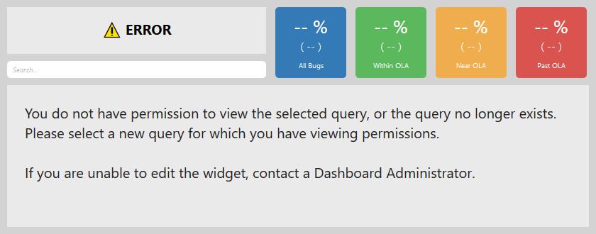 Error Widget